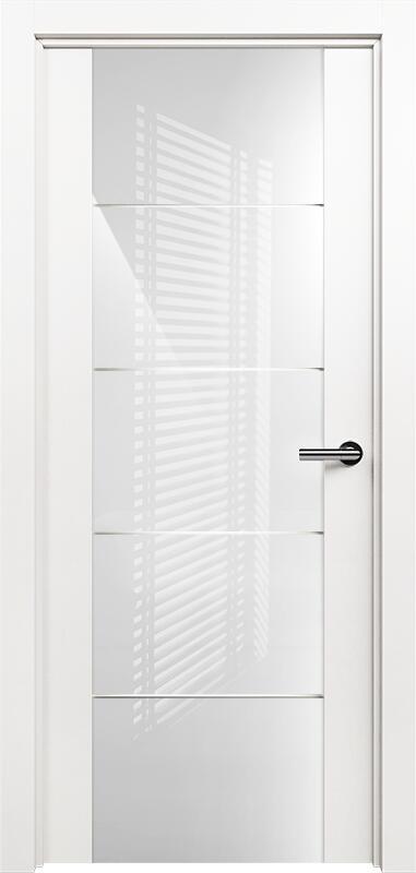 Коллекция Versia 222 Белый   лёд + Триплекс 8мм белый с горизонтальной гравировкой