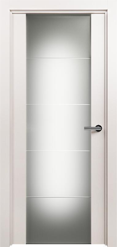 Коллекция Versia 222 Белый жемчуг + Триплекс 8 мм с горизонтальной гравировкой