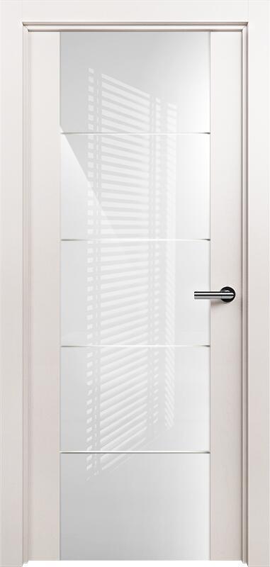 Коллекция Versia 222 Белый жемчуг + Триплекс 8мм белый с горизонтальной гравировкой