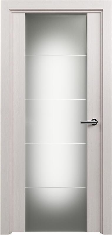 Коллекция Versia 222 Дуб белый + Триплекс 8 мм с горизонтальной гравировкой