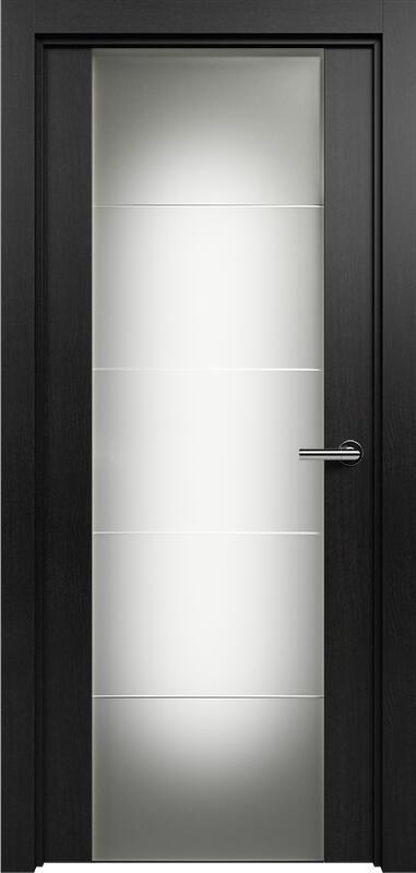 Коллекция Versia 222 Дуб черный + Триплекс 8 мм с горизонтальной гравировкой