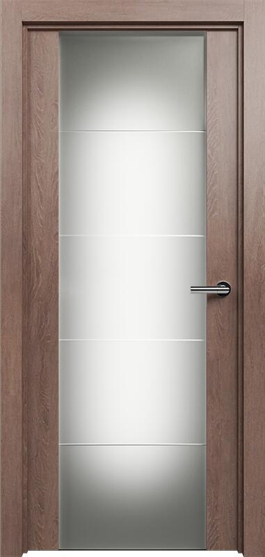 Коллекция Versia 222 Дуб капучино + Триплекс 8 мм с горизонтальной гравировкой