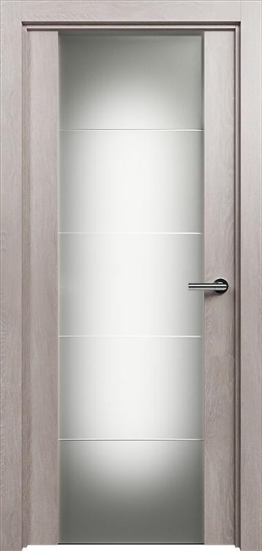 Коллекция Versia 222 Дуб   серый + Триплекс 8 мм с горизонтальной гравировкой