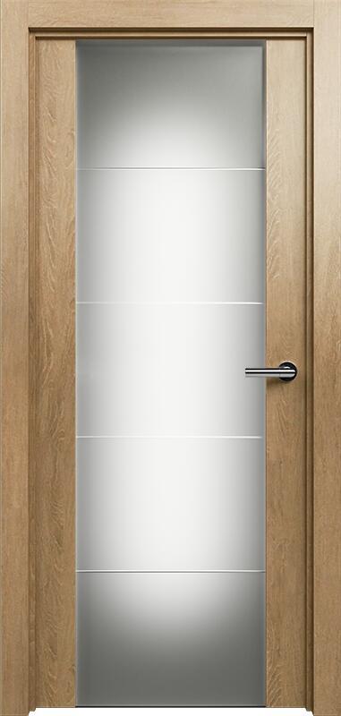 Коллекция Versia 222 Дуб светлый + Триплекс 8 мм с горизонтальной гравировкой