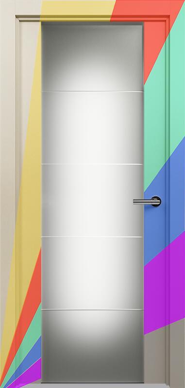 Коллекция Versia 222 Эмаль. Стандарт - RAL 7004,7015,1015,1019,9003.  Нестандарт - любой цвет по RAL. + Триплекс 8 мм с горизонтальной гравировкой