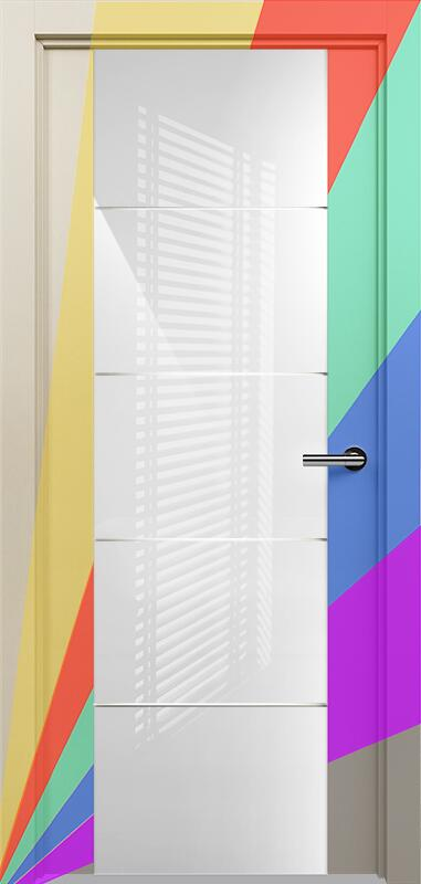 Коллекция Versia 222 Эмаль. Стандарт - RAL 7004,7015,1015,1019,9003.  Нестандарт - любой цвет по RAL. + Триплекс 8мм белый с горизонтальной гравировкой