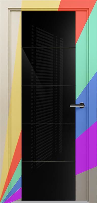 Коллекция Versia 222 Эмаль. Стандарт - RAL 7004,7015,1015,1019,9003.  Нестандарт - любой цвет по RAL. + Триплекс 8мм черный с горизонтальной гравировкой