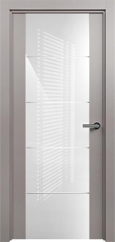 Коллекция Versia 222 Грей + Триплекс 8мм белый с горизонтальной гравировкой
