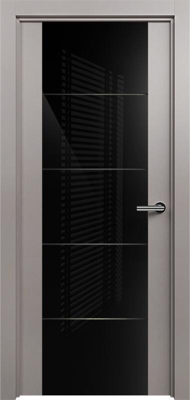 Коллекция Versia 222 Грей + Триплекс 8мм черный с горизонтальной гравировкой