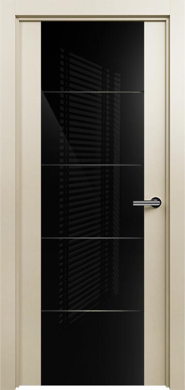 Коллекция Versia 222 Слоновая кость + Триплекс 8мм черный с горизонтальной гравировкой