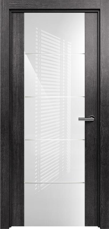 Коллекция Versia 222 Венге пепельный + Триплекс 8мм белый с горизонтальной гравировкой