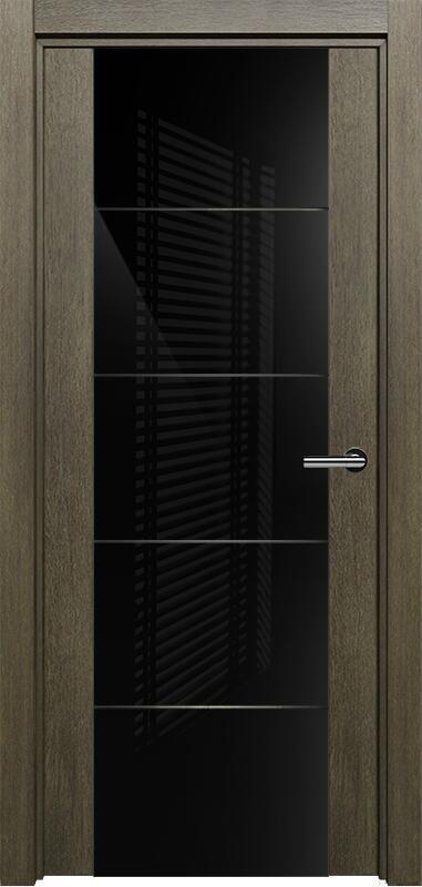 Коллекция Versia 222 Винтаж + Триплекс 8мм черный с горизонтальной гравировкой