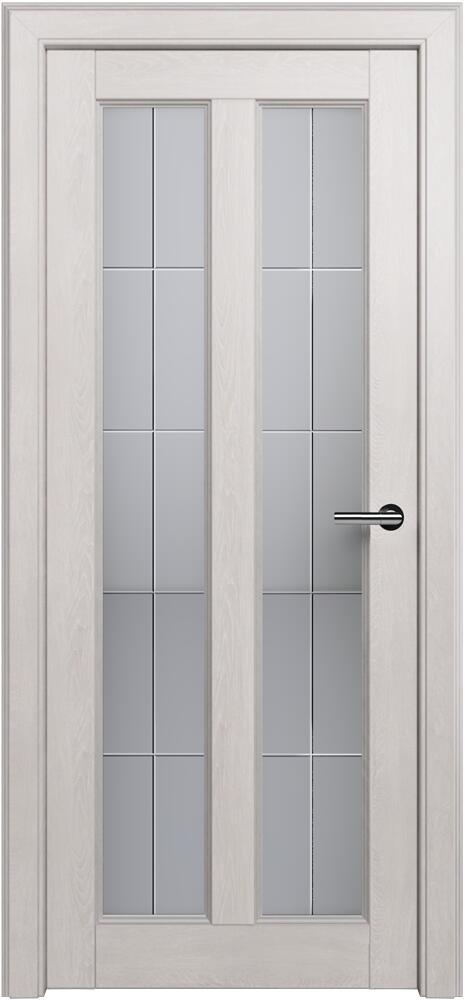 Коллекция Fusion 612 Дуб белый + Алмазная гравировка английская решетка