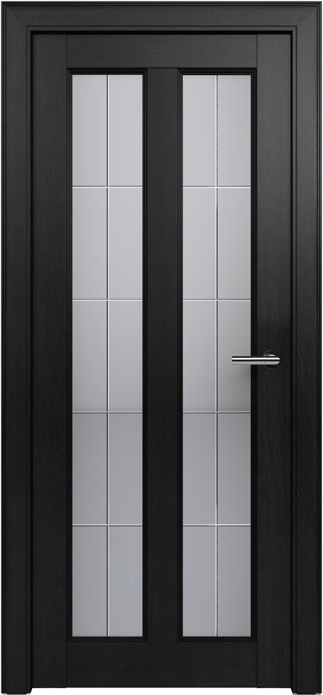 Коллекция Fusion 612 Дуб черный + Алмазная гравировка английская решетка