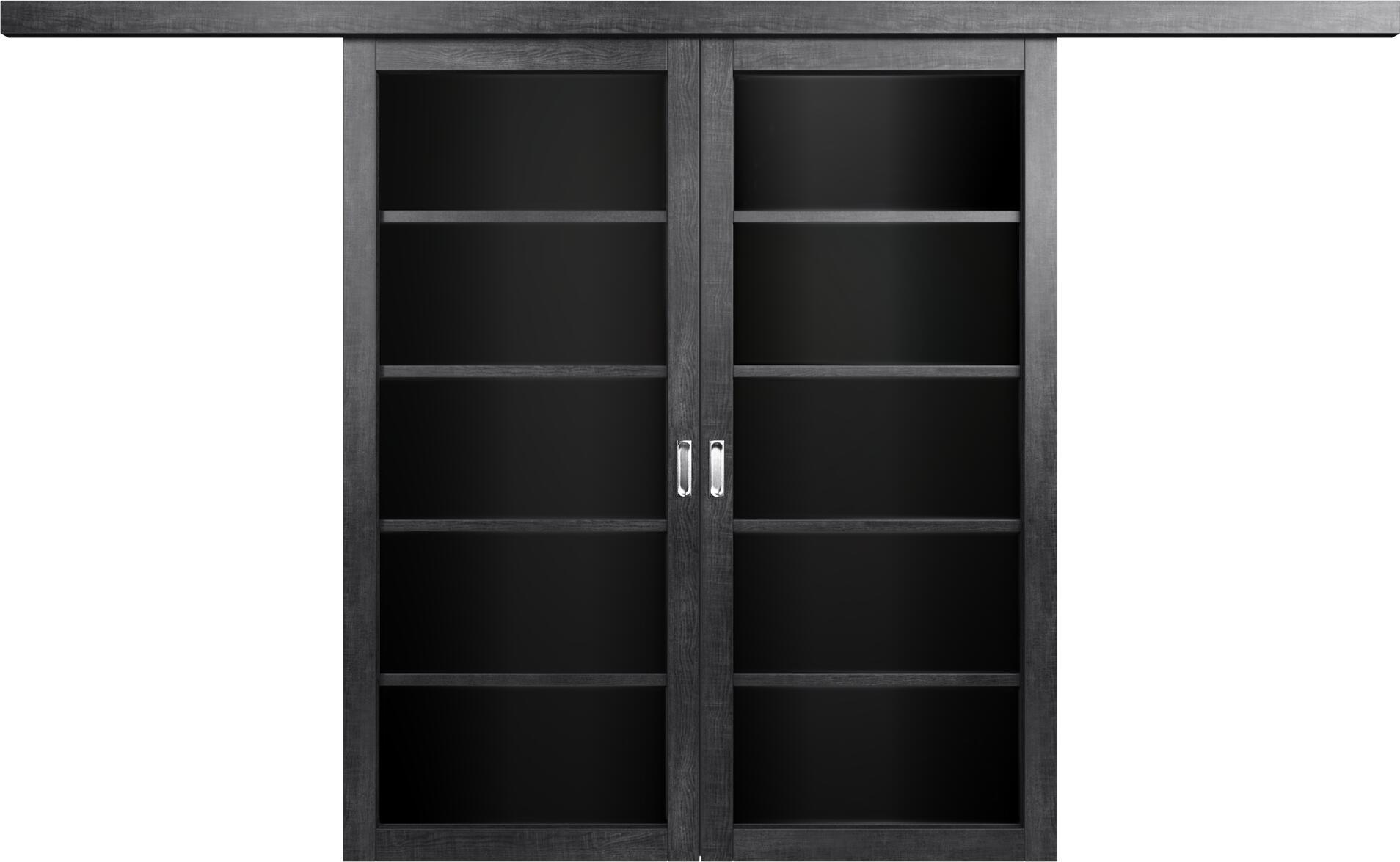 Коллекция Перегородки Перегородка со стеклом. Тип 1 Венге пепельный + Триплекс черный