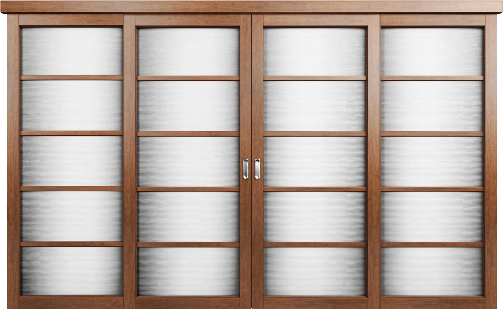 Коллекция Перегородки Двухполосная раздвижная система для 4-х полотен. Тип 1 Анегри + Канны