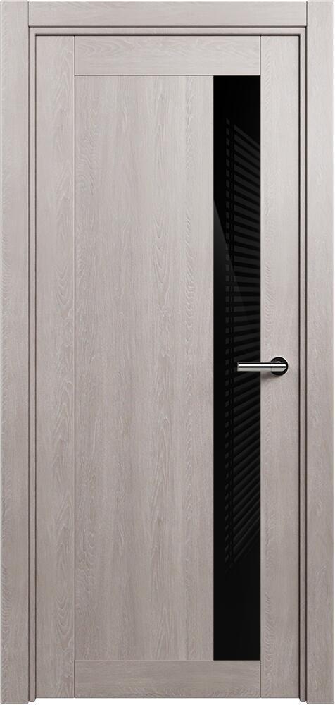 Коллекция Estetica 821 Дуб   серый + глосс черное