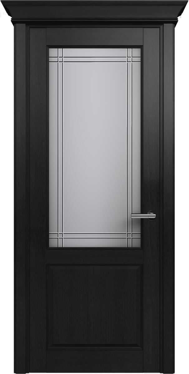 Коллекция Classic 521 Дуб черный + Алмазная гравировка итальянская решетка