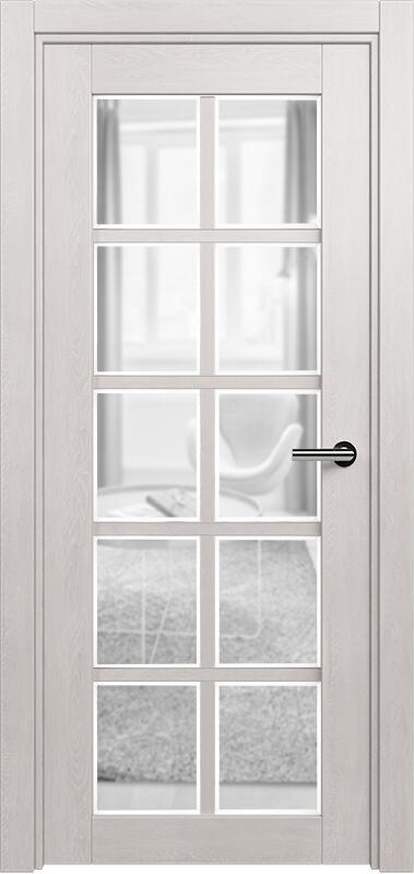 Коллекция Optima 123 Дуб белый + сатинато прозрачное фацет