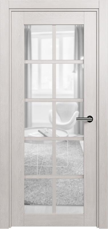 Коллекция Optima 123 Дуб белый + сатинато прозрачное