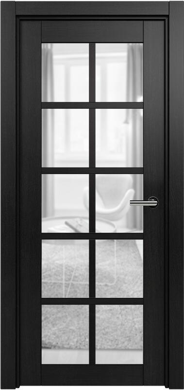 Коллекция Optima 123 Дуб черный + сатинато прозрачное