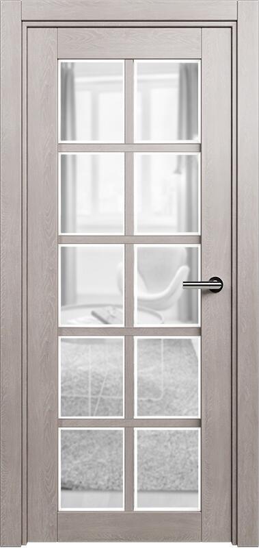 Коллекция Optima 123 Дуб   серый + сатинато прозрачное фацет