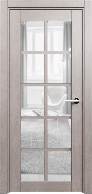 Коллекция Optima 123 Дуб   серый + сатинато прозрачное