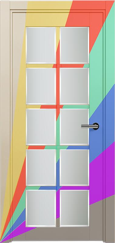 Коллекция Optima 123 Эмаль. Стандарт - RAL 7004,7015,1015,1019,9003.  Нестандарт - любой цвет по RAL. + Сатинато белое фацет