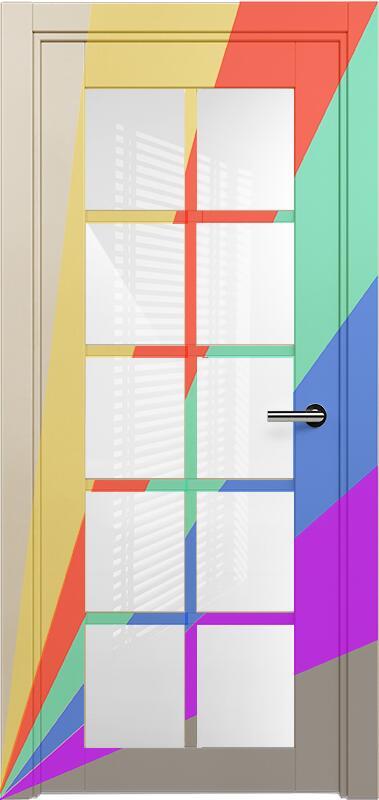 Коллекция Optima 123 Эмаль. Стандарт - RAL 7004,7015,1015,1019,9003.  Нестандарт - любой цвет по RAL. + триплекс белое