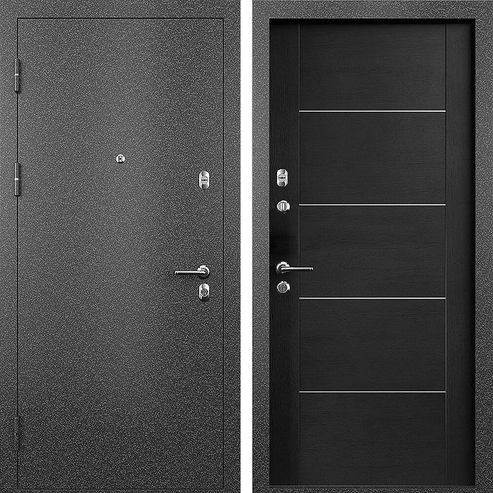 Коллекция Входные двери Статус М 211 Престиж Дуб черный