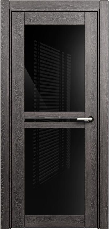 Коллекция Elegant 143 Дуб патина + триплекс черный