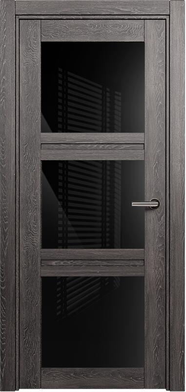 Коллекция Elegant 146 Дуб патина + триплекс черный