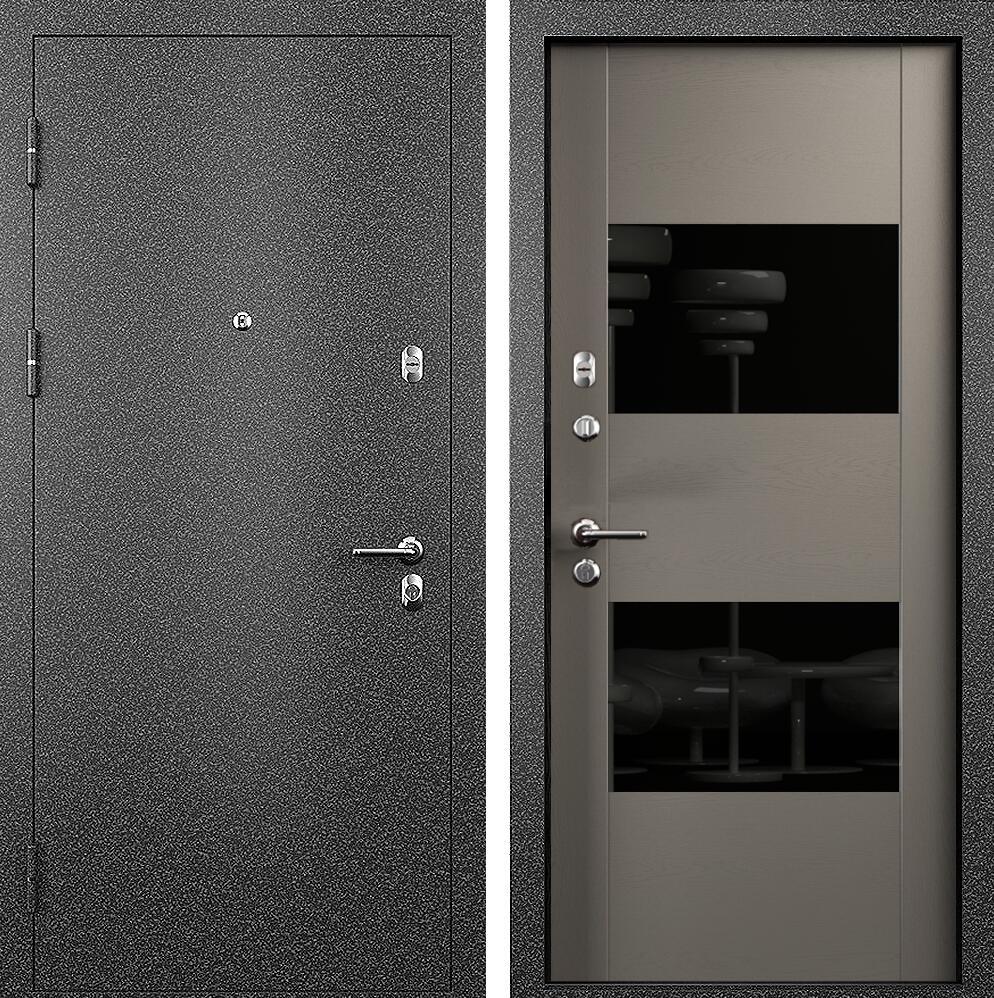 Коллекция Входные двери Статус М 221 Престиж Грей + лакобель черное