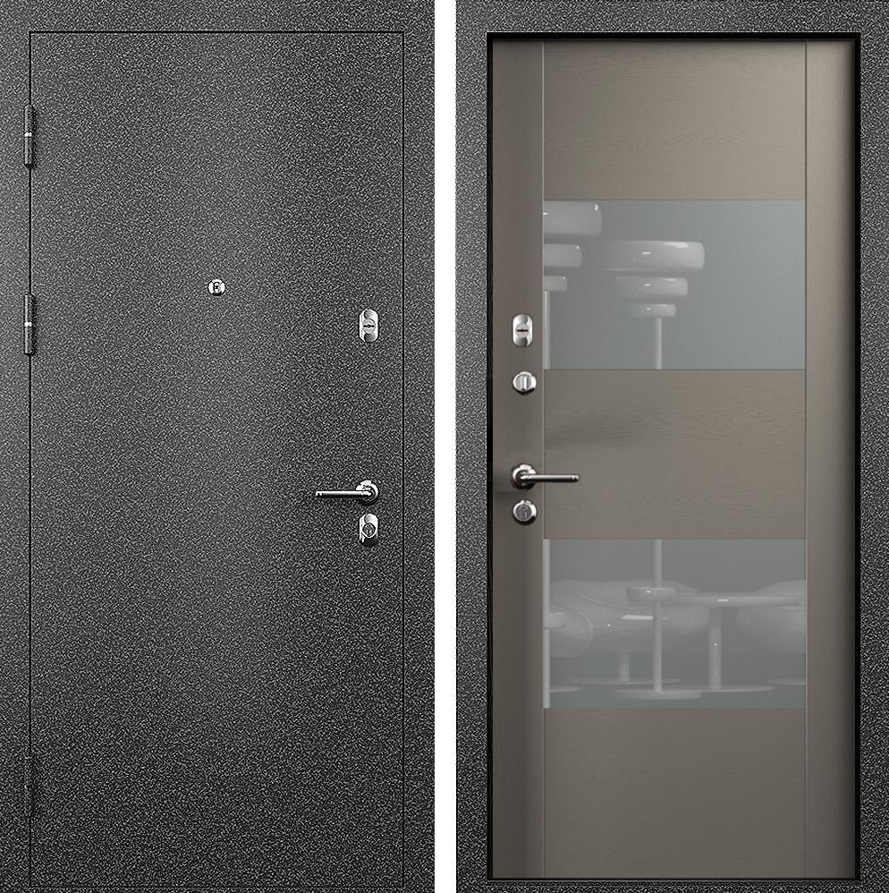 Коллекция Входные двери Статус М 221 Престиж Грей + лакобель серое