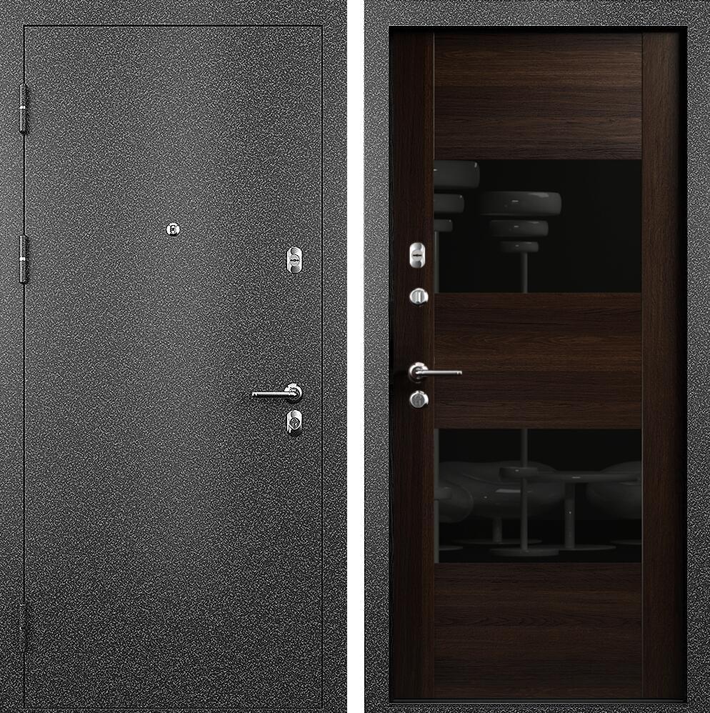 Коллекция Входные двери Статус М 221 Престиж Орех + лакобель черное
