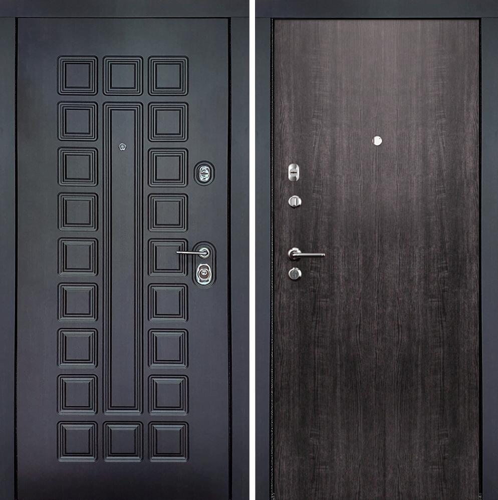 Коллекция Входные двери Статус М Престиж Люкс Венге пепельный