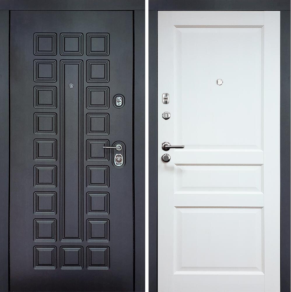 Коллекция Входные двери Статус М 531 Престиж Люкс Белый   лёд