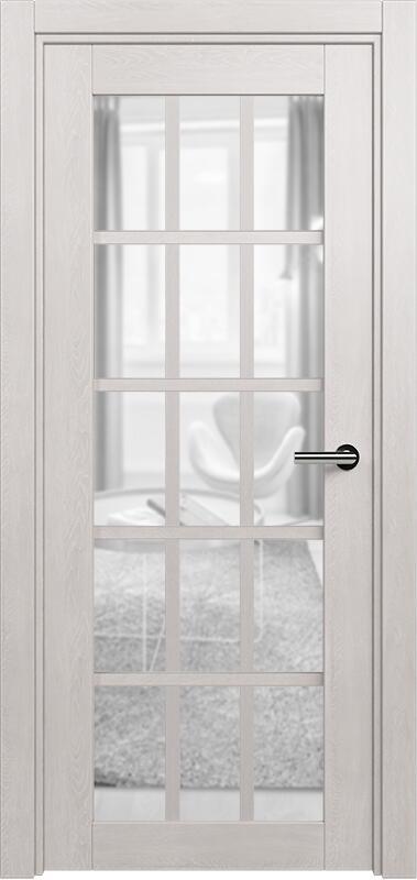 Коллекция Optima 124 Дуб белый + сатинато прозрачное