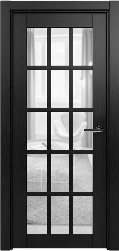 Коллекция Optima 124 Дуб черный + сатинато прозрачное