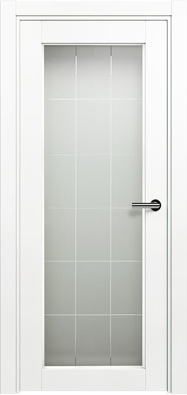 Коллекция Optima 125 Белый   лёд + Английская решетка сатинато белое фацет