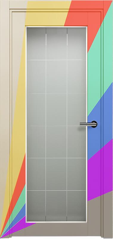 Коллекция Optima 125 Эмаль. Стандарт - RAL 7004,7015,1015,1019,9003.  Нестандарт - любой цвет по RAL. + Английская решетка сатинато белое фацет