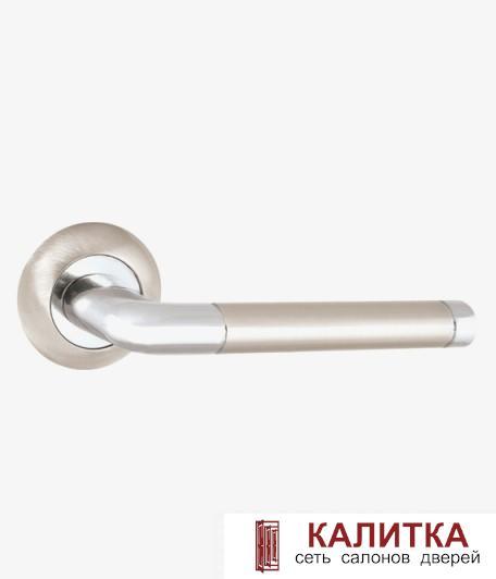 34-10 LINDO Ручка дверная PUNTO на круглом основании REX TL SN/CP-3 матовый никель/хром TD185804