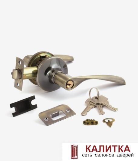 37-01 Ручка-защелка 8023-01 ключ фиксатор АВ бронза