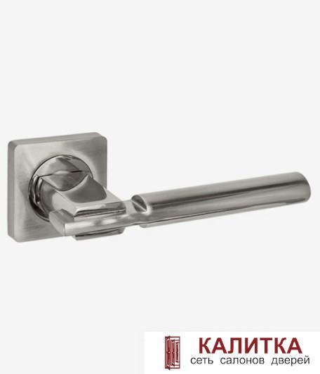 АКЦИЯ Ручка дверная  на квадратном основании AL 523-02 SN/NP матовый никель/никель блTD185221