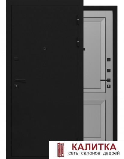Деканто Черный Букле / Серый Бархат 860х2050 левая