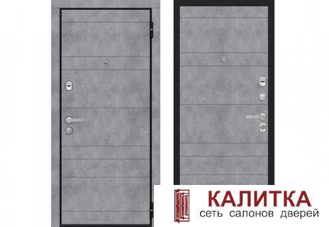 Гранит Бетон серый / Бетон серый 860х2050 левая
