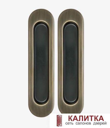 Комплект ручек для раздвижных дверей (2 шт) MHS 150 АВ бронза