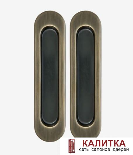Комплект ручек для раздвижных дверей (2 шт) TIXX SDH 501 АВ бронза