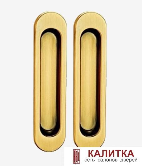 Комплект ручек для раздвижных дверей (2 шт) TIXX SDH 501 SG матовое золото