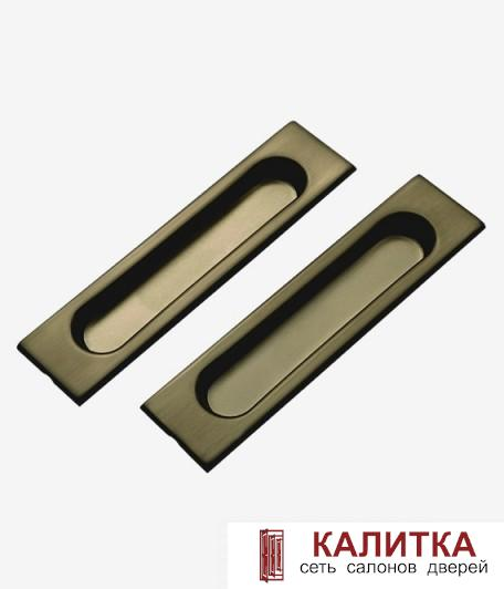 Комплект ручек прямоугольные для раздвижных дверей (2 шт) TIXX SDH 601 AB бронза
